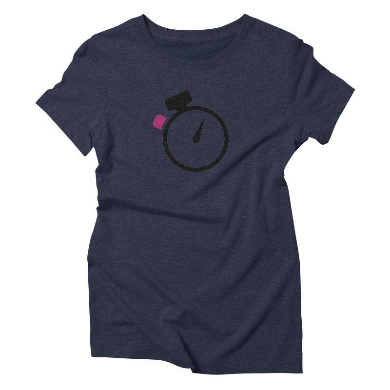 Unusual Efforts Stopwatch Logo Women's Triblend T-Shirt by Unusual Efforts Merchandise and Prints