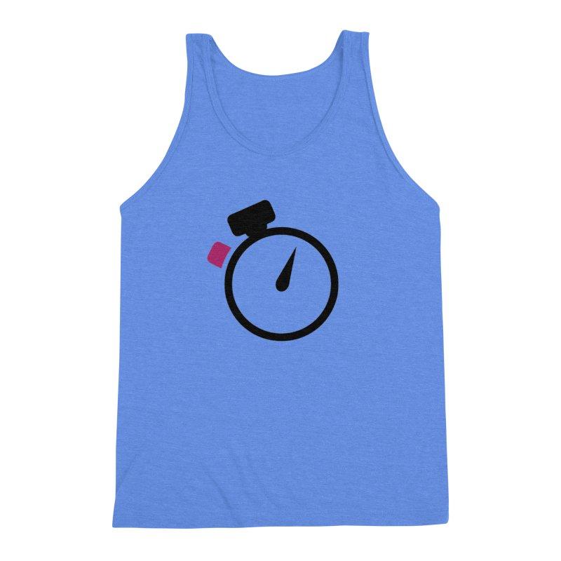 Unusual Efforts Stopwatch Logo Men's Triblend Tank by Unusual Efforts Merchandise and Prints