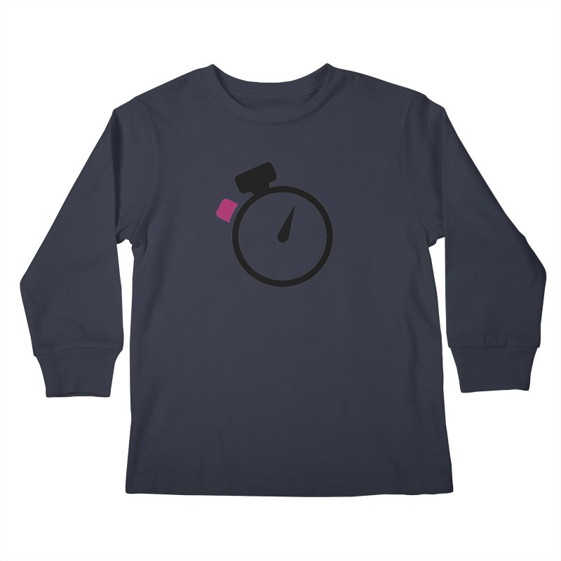 Unusual Efforts Stopwatch Logo Kids Longsleeve T-Shirt by Unusual Efforts Merchandise and Prints