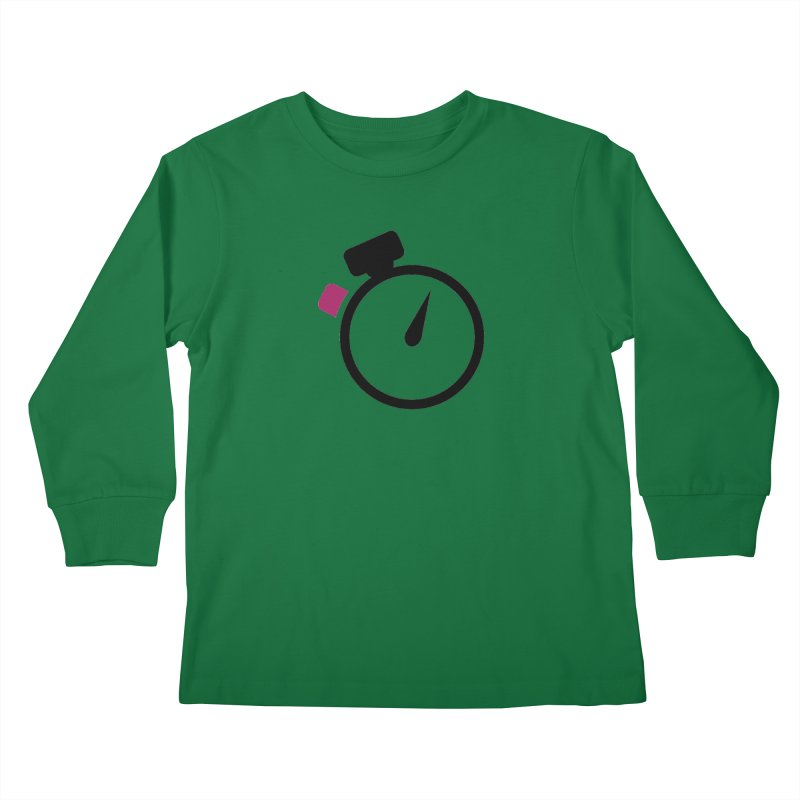 Unusual Efforts Stopwatch Logo Kids Longsleeve T-Shirt by Unusual Efforts Merchandise and Prints