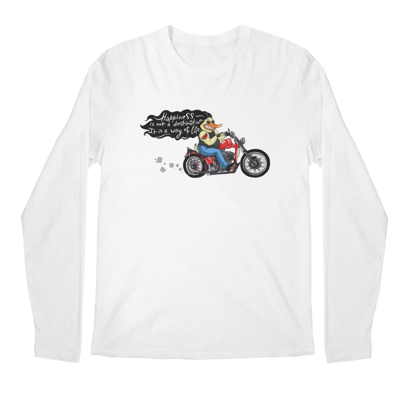 Happiness Men's Regular Longsleeve T-Shirt by Universe Postoffice