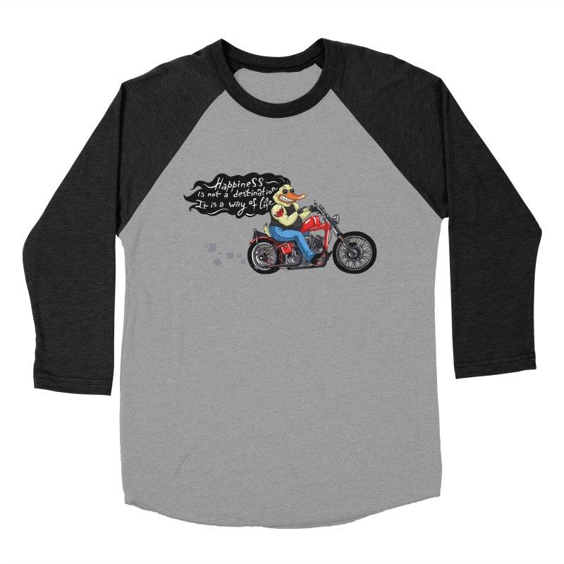 Happiness Men's Baseball Triblend T-Shirt by Universe Postoffice
