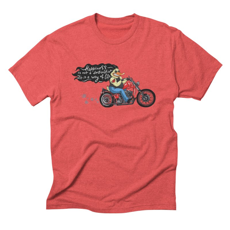 Happiness Men's Triblend T-shirt by Universe Postoffice