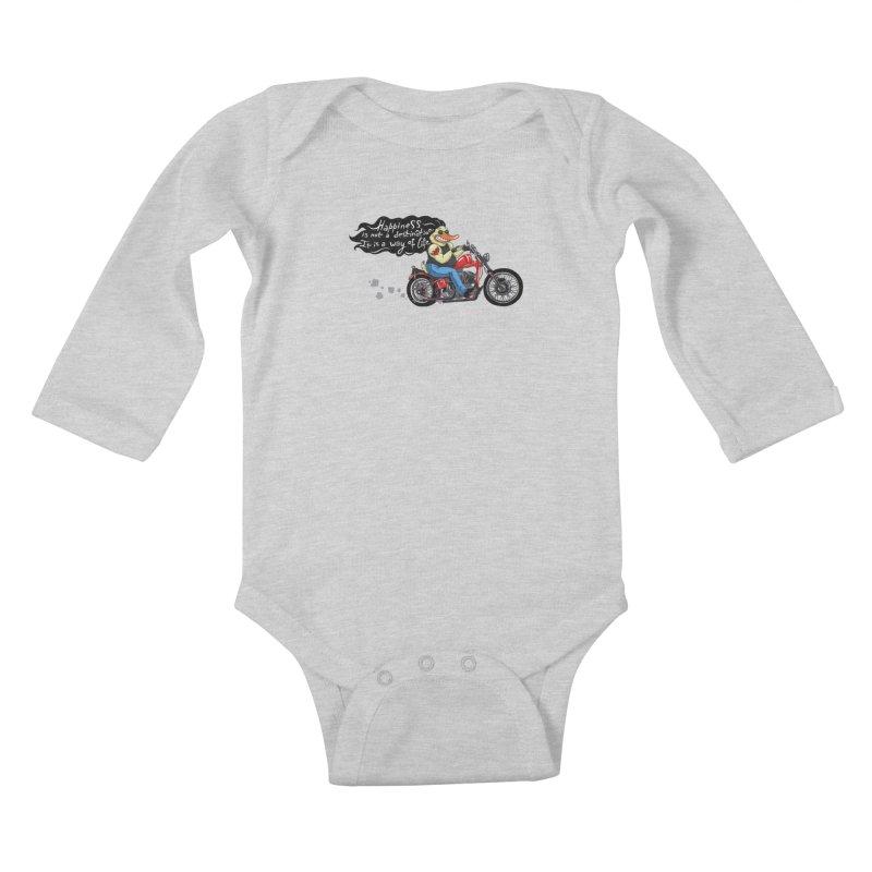 Happiness Kids Baby Longsleeve Bodysuit by Universe Postoffice