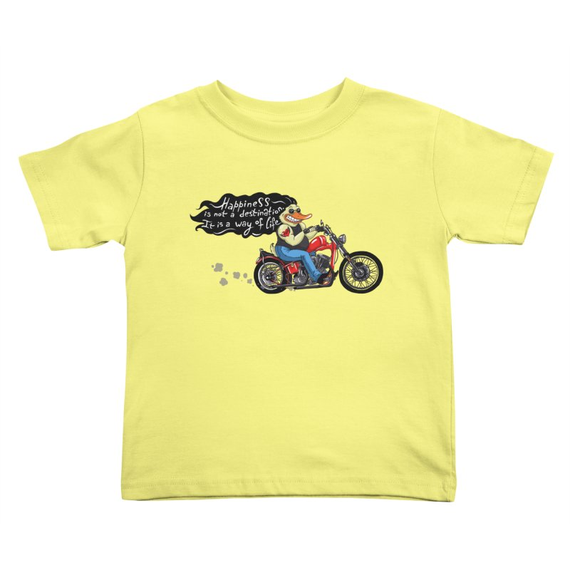 Happiness Kids Toddler T-Shirt by Universe Postoffice