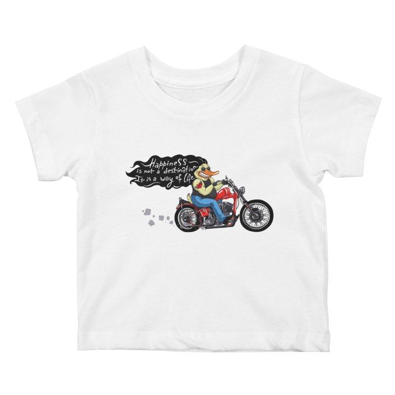 Happiness Kids Baby T-Shirt by Universe Postoffice