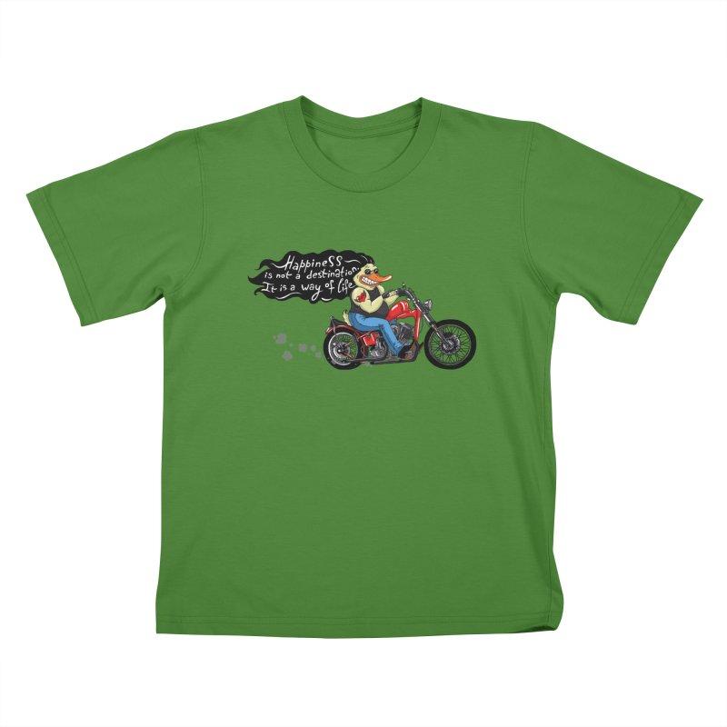 Happiness Kids T-shirt by Universe Postoffice