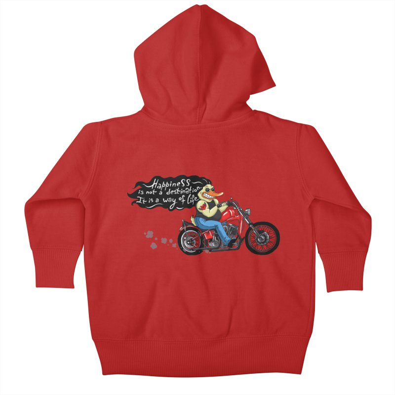Happiness Kids Baby Zip-Up Hoody by Universe Postoffice
