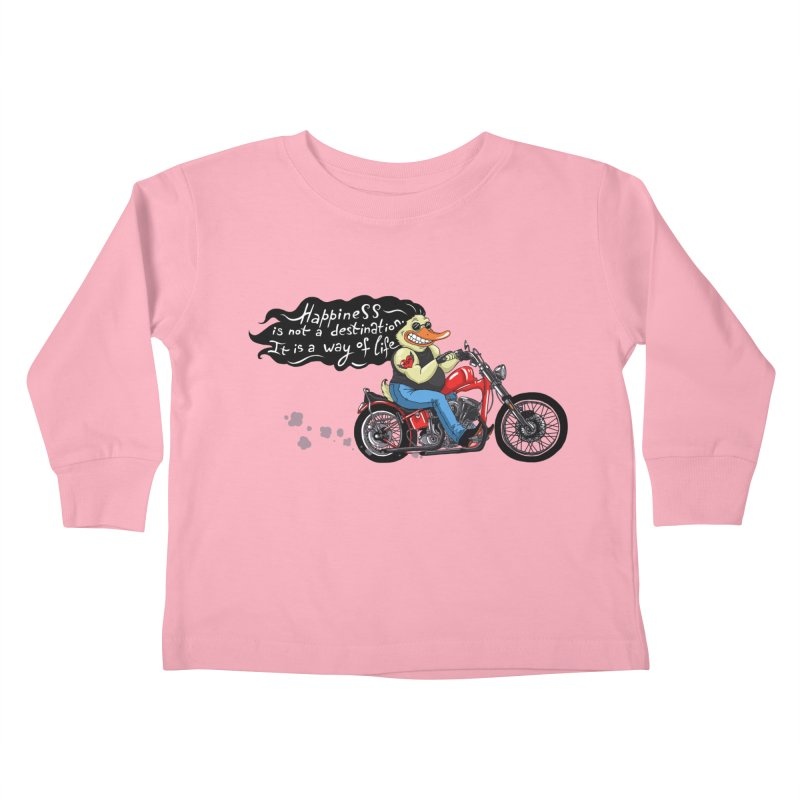 Happiness Kids Toddler Longsleeve T-Shirt by Universe Postoffice