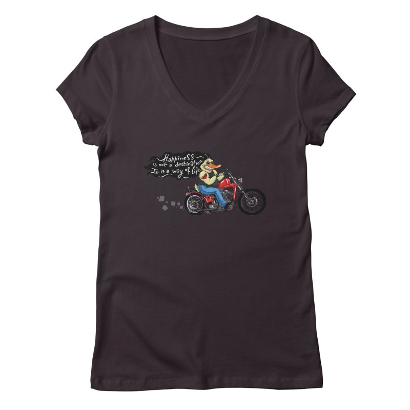 Happiness Women's V-Neck by Universe Postoffice