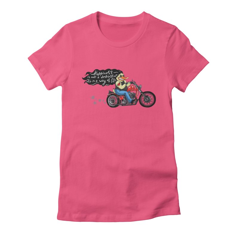 Happiness Women's Fitted T-Shirt by Universe Postoffice