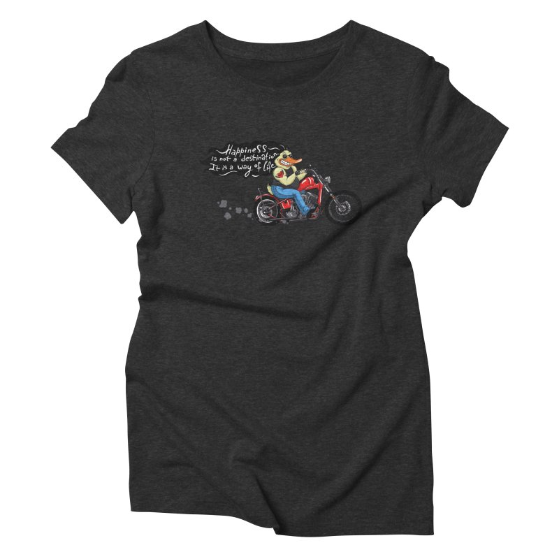 Happiness Women's Triblend T-Shirt by Universe Postoffice