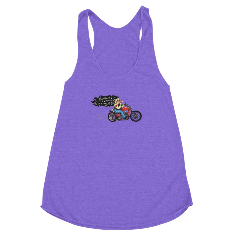 Happiness Women's Racerback Triblend Tank by Universe Postoffice