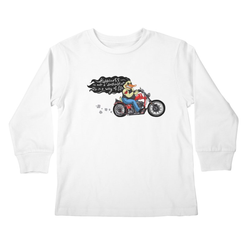 Happiness Kids Longsleeve T-Shirt by Universe Postoffice