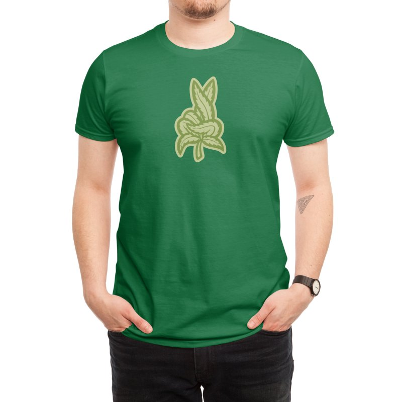 Weed Fingers Crossed Men's T-Shirt by Upbeat Getup