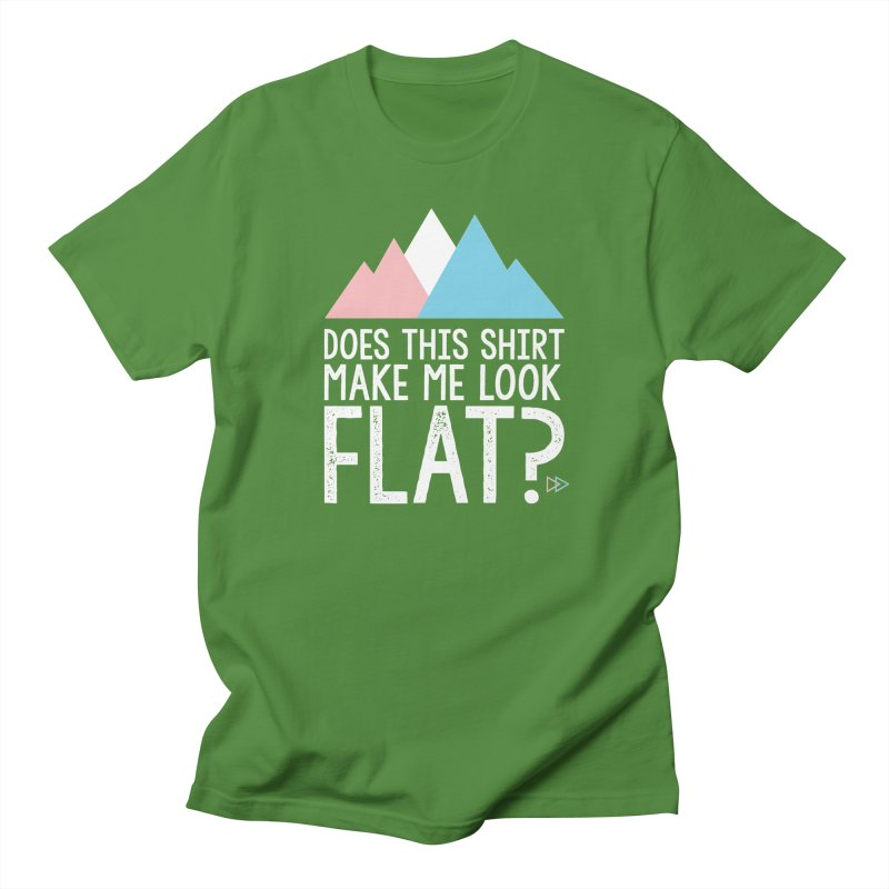 Does This Shirt Make Me Look Flat? (Original) Men's T-Shirt by uppercaseCHASE1