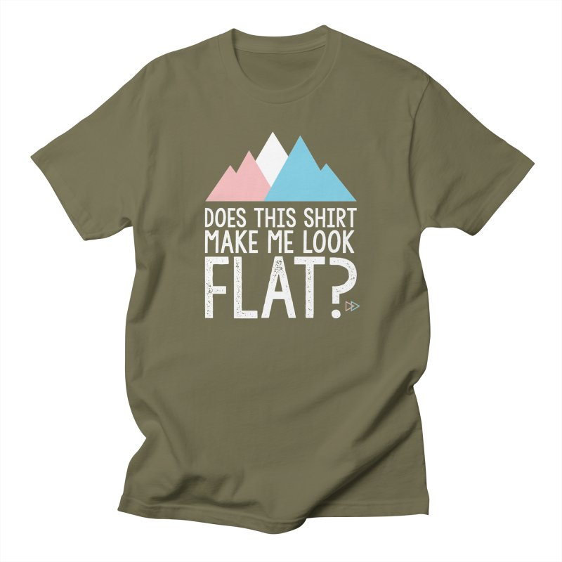 Does This Shirt Make Me Look Flat? (Original) Men's Regular T-Shirt by uppercaseCHASE1