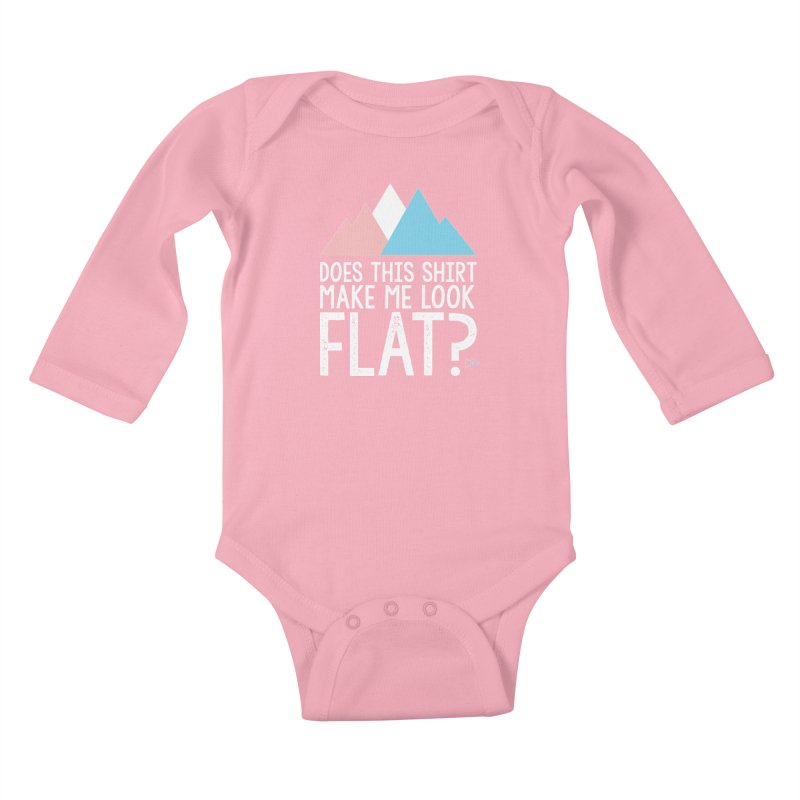 Does This Shirt Make Me Look Flat? (Original) Kids Baby Longsleeve Bodysuit by uppercaseCHASE1