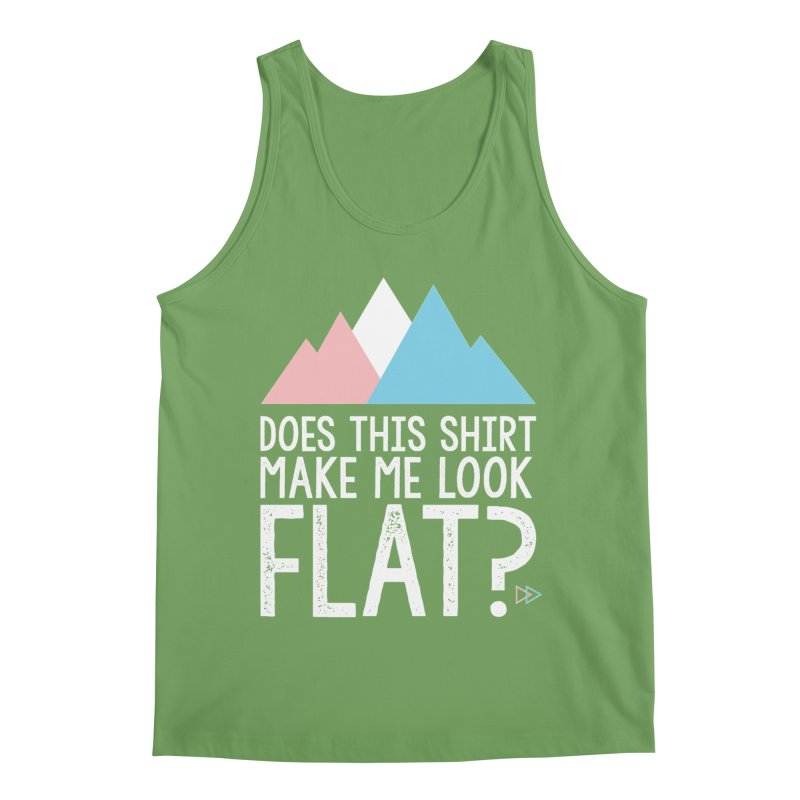 Does This Shirt Make Me Look Flat? (Original) Men's Tank by uppercaseCHASE1
