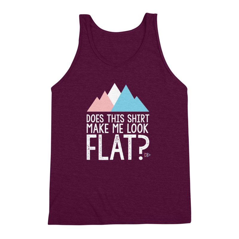 Does This Shirt Make Me Look Flat? (Original) Men's Triblend Tank by uppercaseCHASE1