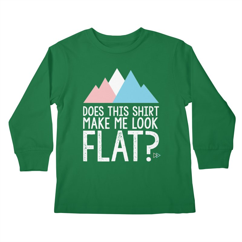 Does This Shirt Make Me Look Flat? (Original) Kids Longsleeve T-Shirt by uppercaseCHASE1