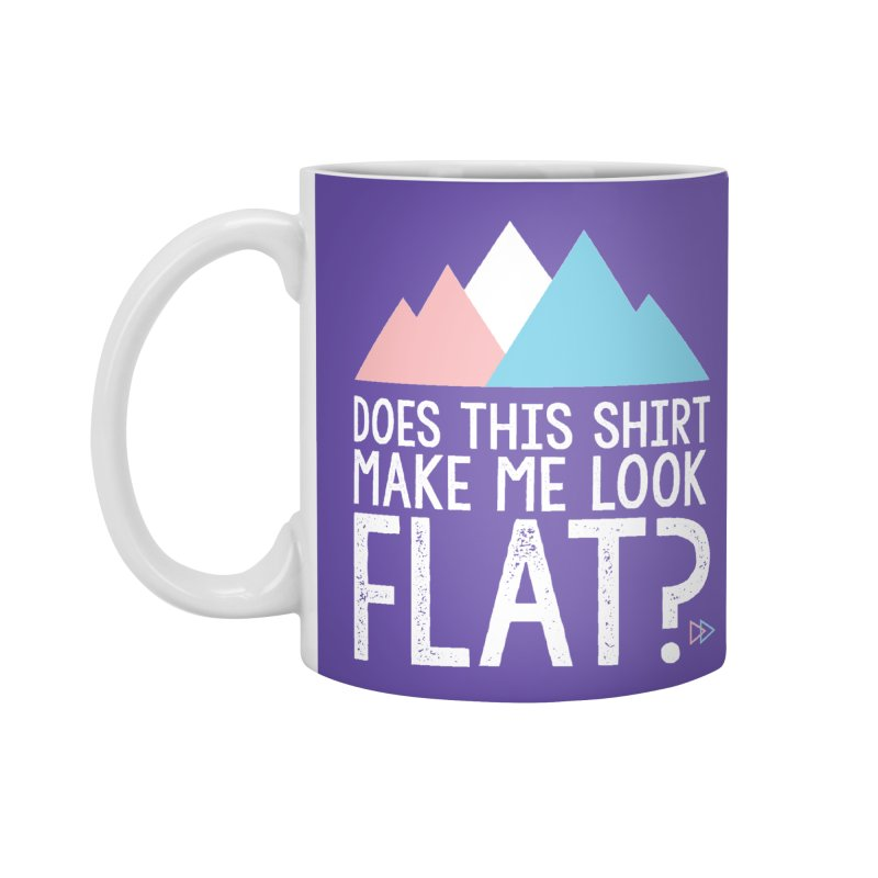 Does This Shirt Make Me Look Flat? (Original) Accessories Standard Mug by uppercaseCHASE1