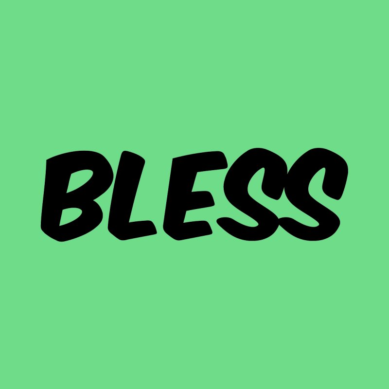 BLESS *Black Font* Men's V-Neck by uppercaseCHASE1