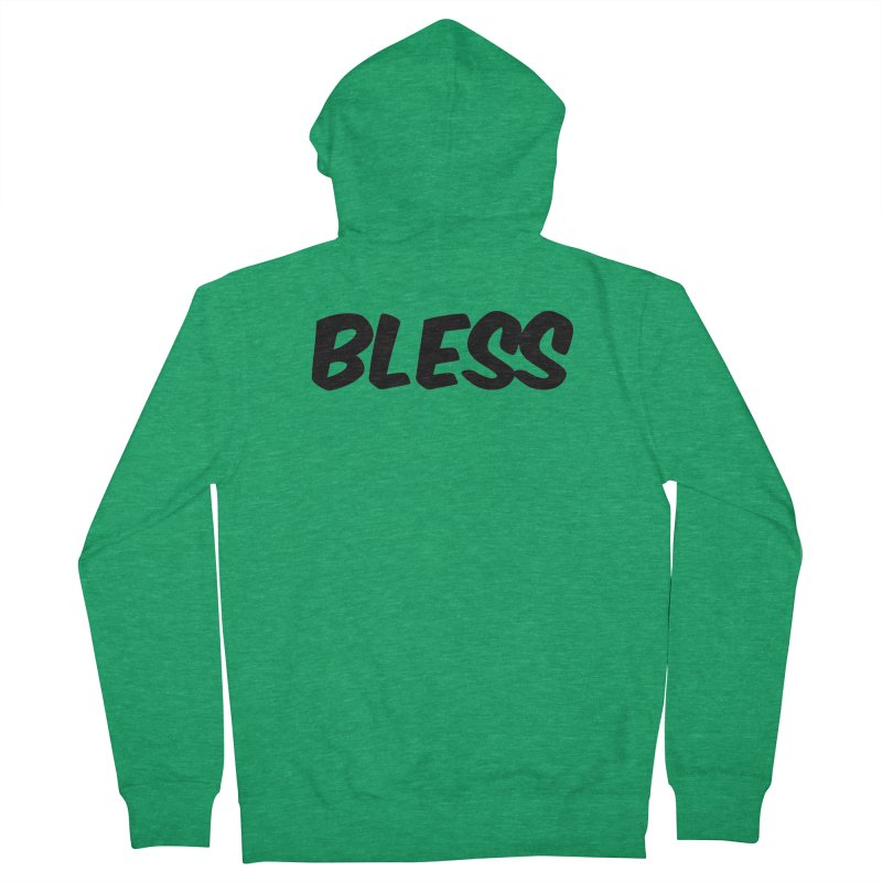 BLESS *Black Font* Women's Zip-Up Hoody by uppercaseCHASE1