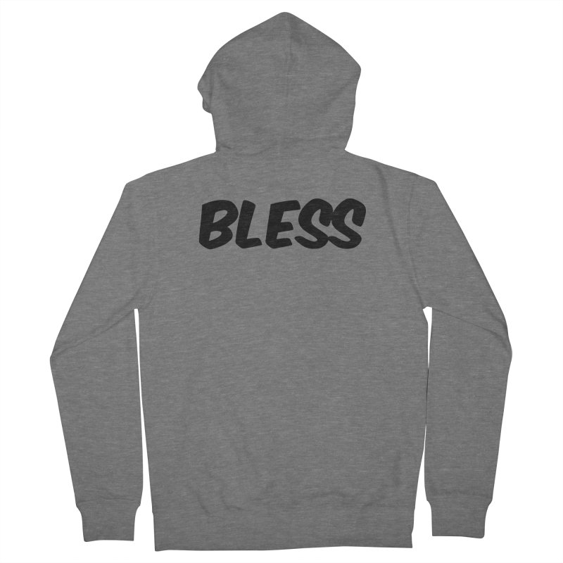 BLESS *Black Font* Men's Zip-Up Hoody by uppercaseCHASE1