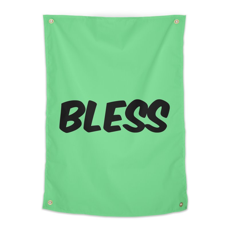 BLESS *Black Font* Home Tapestry by uppercaseCHASE1