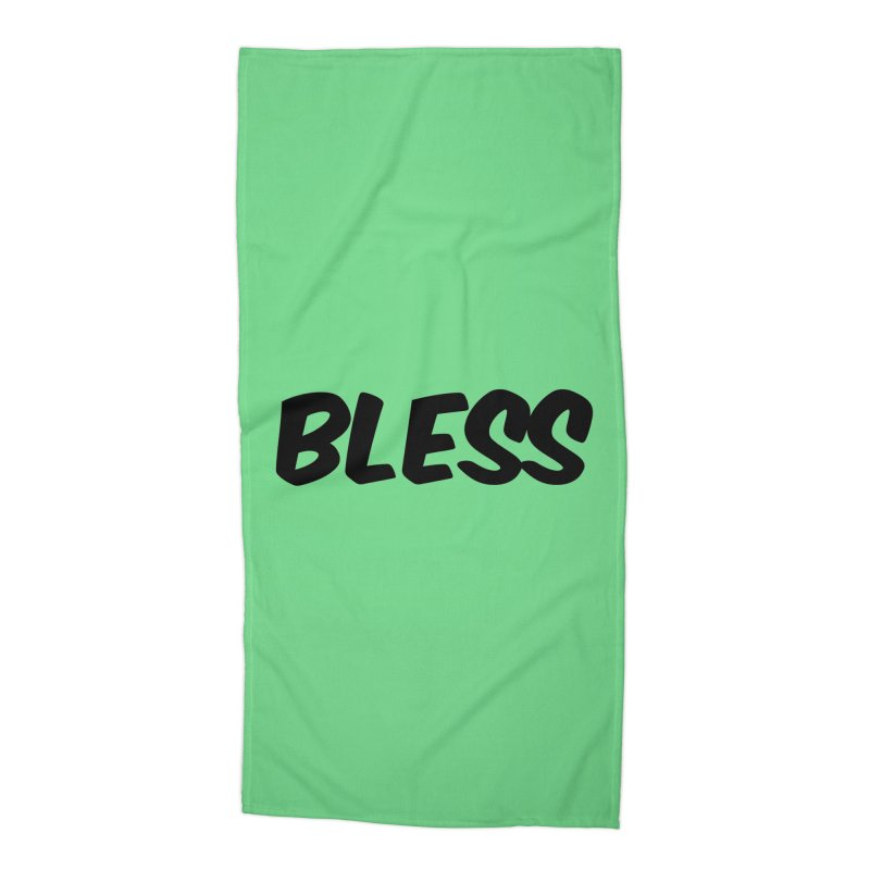 BLESS *Black Font* Accessories Beach Towel by uppercaseCHASE1