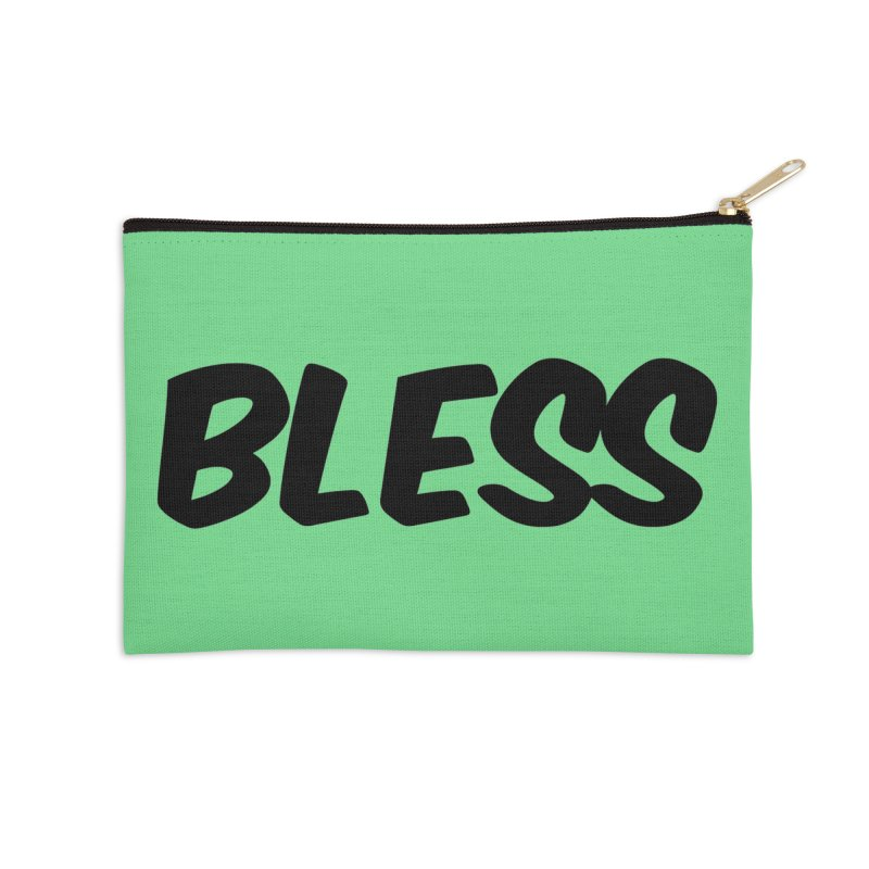 BLESS *Black Font* Accessories Zip Pouch by uppercaseCHASE1