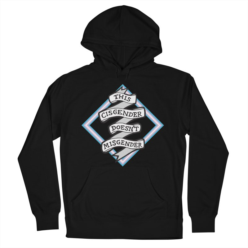 This Cisgender *Black Font* Men's French Terry Pullover Hoody by uppercaseCHASE1