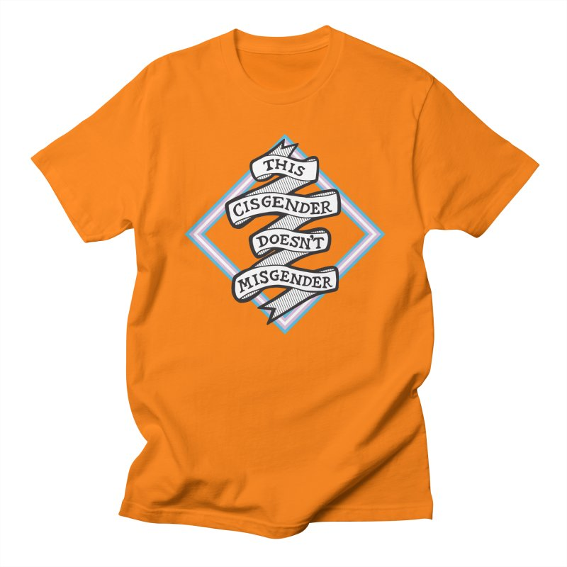 This Cisgender *Black Font* Men's Regular T-Shirt by uppercaseCHASE1
