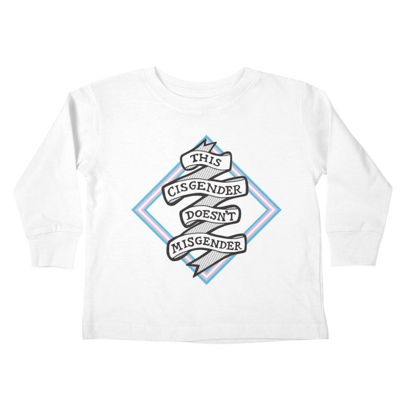 This Cisgender *Black Font* Kids Toddler Longsleeve T-Shirt by uppercaseCHASE1