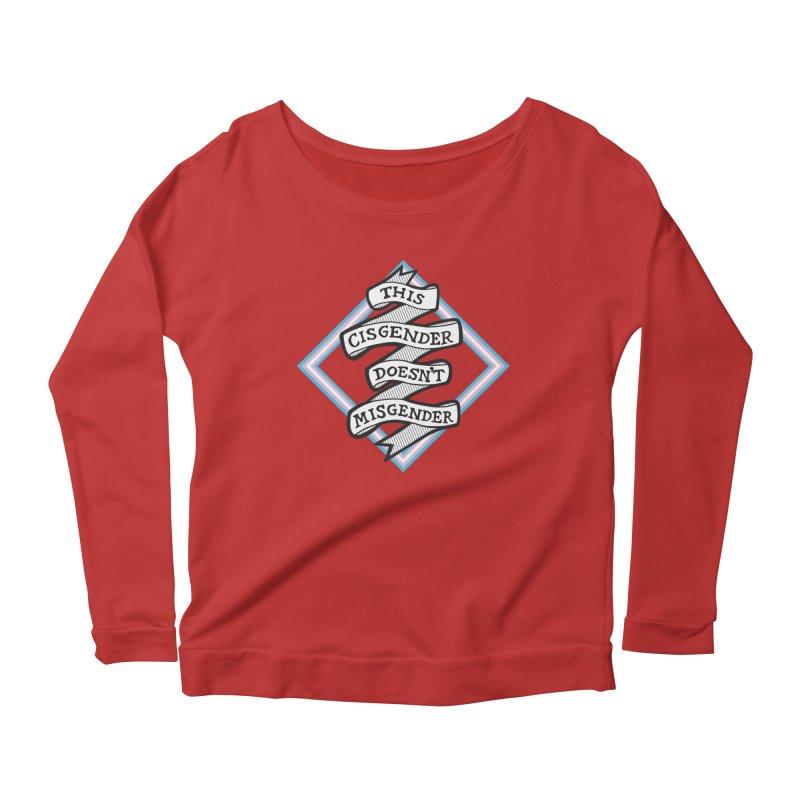 This Cisgender *Black Font* Women's Scoop Neck Longsleeve T-Shirt by uppercaseCHASE1