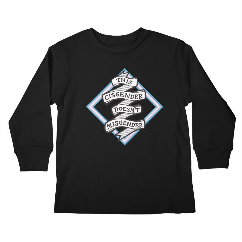 This Cisgender *Black Font* Kids Longsleeve T-Shirt by uppercaseCHASE1