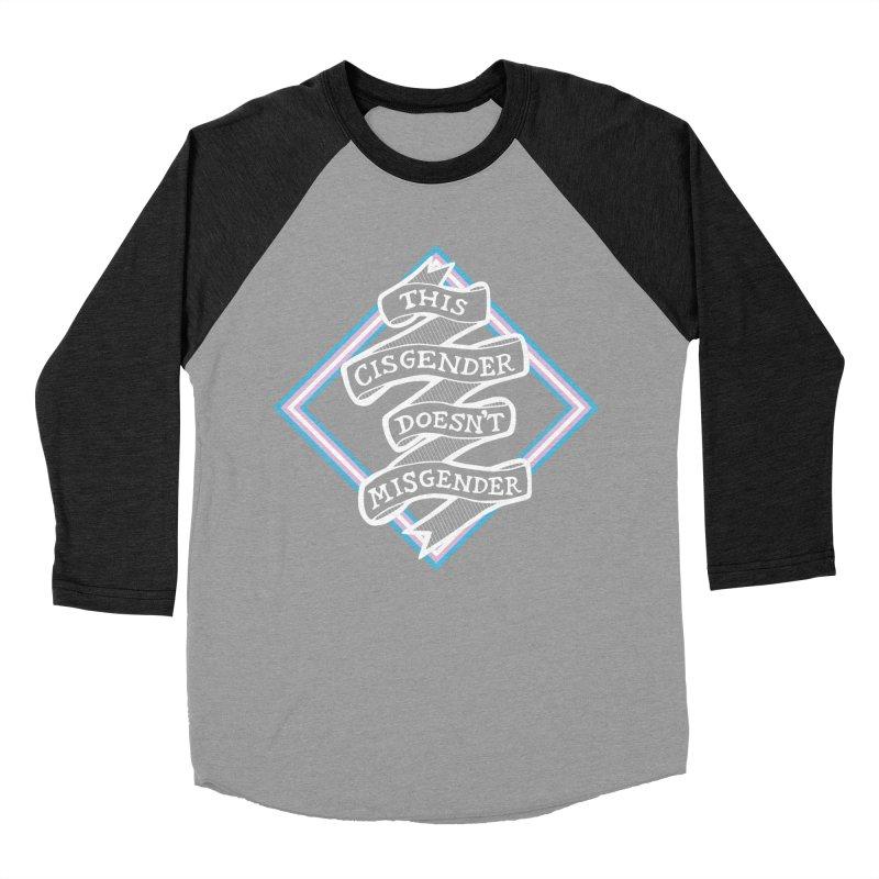 This Cisgender Doesn't Misgender Women's Baseball Triblend Longsleeve T-Shirt by uppercaseCHASE1