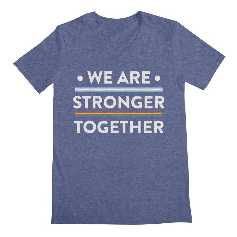 We Are Stronger Together Men's Regular V-Neck by uppercaseCHASE1
