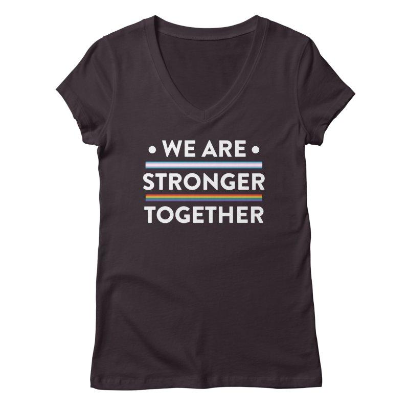 We Are Stronger Together Women's Regular V-Neck by uppercaseCHASE1