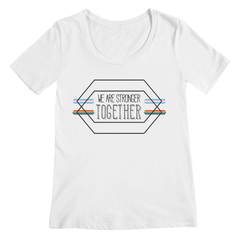 Stronger Together Women's Regular Scoop Neck by uppercaseCHASE1