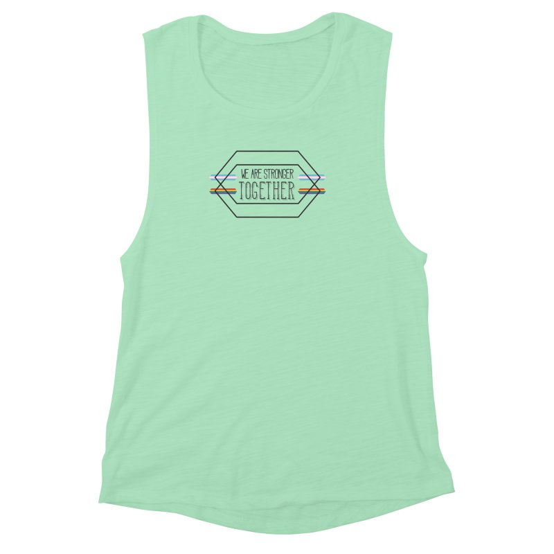 Stronger Together Women's Muscle Tank by uppercaseCHASE1