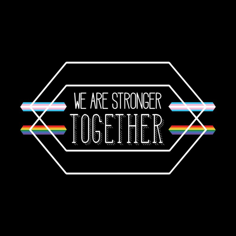Stronger Together Shapes  Kids T-Shirt by uppercaseCHASE1