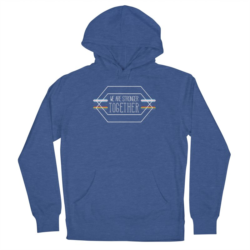 Stronger Together Shapes  Men's Pullover Hoody by uppercaseCHASE1