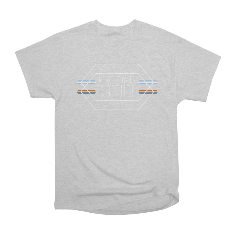 Stronger Together Shapes  Men's T-Shirt by uppercaseCHASE1