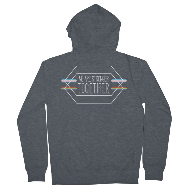 Stronger Together Shapes  Men's French Terry Zip-Up Hoody by uppercaseCHASE1