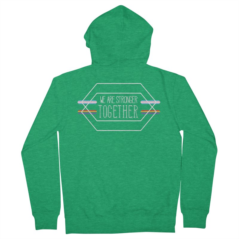 Stronger Together Shapes  Men's Zip-Up Hoody by uppercaseCHASE1
