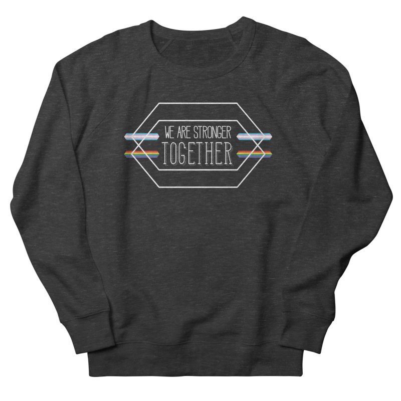 Stronger Together Shapes  Men's French Terry Sweatshirt by uppercaseCHASE1