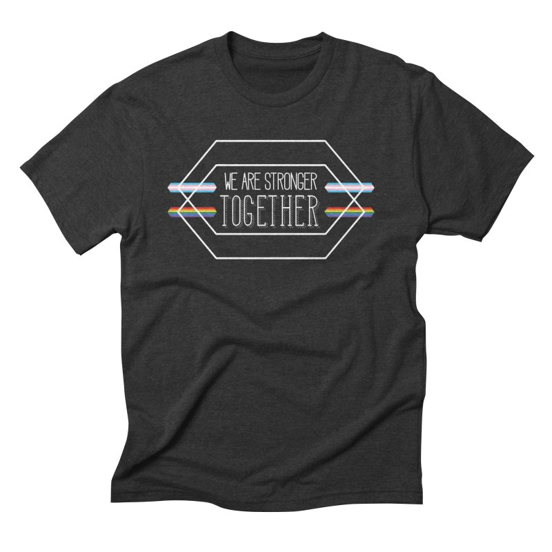 Stronger Together Shapes  Men's Triblend T-Shirt by uppercaseCHASE1