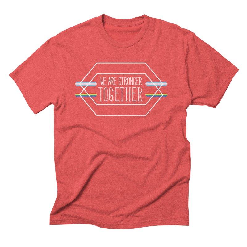 Stronger Together Shapes  Men's Triblend T-Shirt by uppercaseCHASE1